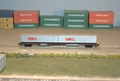 ConCor 40 foot container on flatcar.
